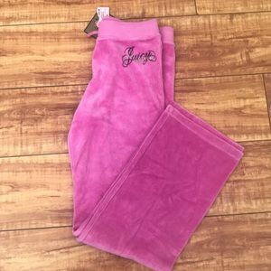NWT Juicy Couture Pink Velour Sweatpants